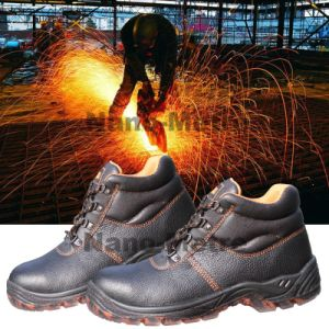 Nmsafety Cow Split Leather Low Price Safety Shoes pictures & photos