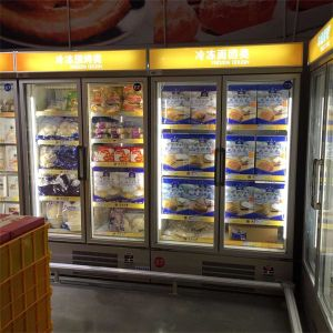 Double Door Refrigerator Upright Fridge Freezer pictures & photos