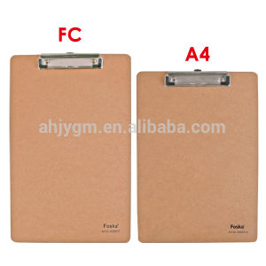 Hot Sale A4/FC MDF Clip Board/Writing Board pictures & photos