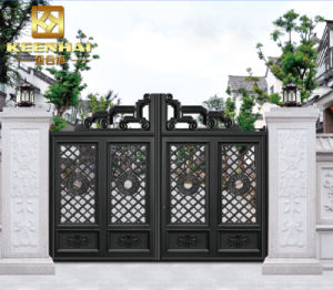 Decorative Modern Power Coated Aluminum Garden Gate pictures & photos