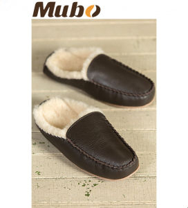 Men′s Genuine Leather Bruno Sheepskin Slippers Mule Slipper pictures & photos