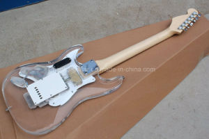 Hanhai Music / St Style Acrylic Body Electric Guitar with Light Fingerboard pictures & photos