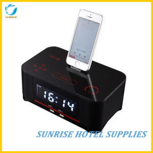 Large LCD Display Alarm Clock Docking Station for Hotel pictures & photos