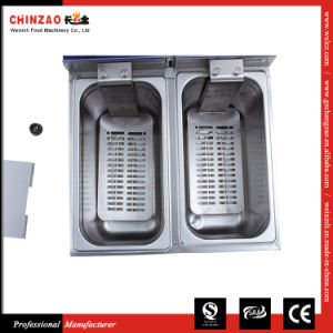 Stainless Steel Electric Commercial Countertop Deep Fryer Dzl-082b pictures & photos
