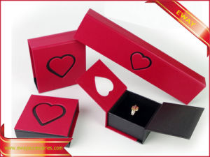Red Paper Jewelry Box Paper Ring Box pictures & photos