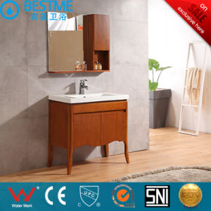 Red Color Solid Wood Bathroom Cabinet Bathroom Furniture by-X7082 pictures & photos