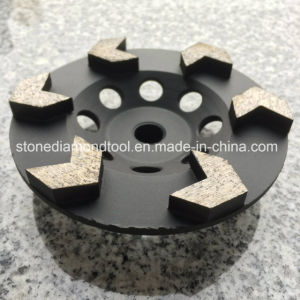 Arrow Segment Diamond Cup Wheels for Concrete Grinding pictures & photos