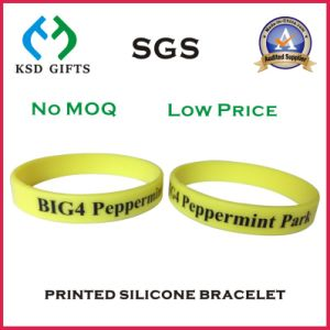 Customized Screen Print Promotion Silicon Bracelet to Saudi Arabia (KSD-842) pictures & photos