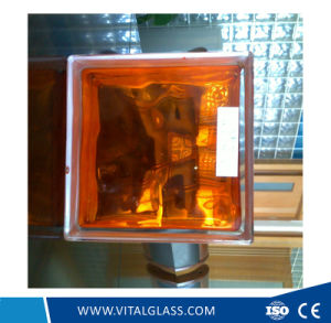 High Quality Inner Orange Glass Block for Decoration (G-B) pictures & photos