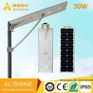 Outdoor Products Garden Lamp Integrated/All-in-One Lighting LED Solar Street Light (SSL-5W-120W) with Remoter Control 160lumen/Watts pictures & photos