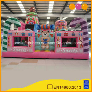 Used Party Jumpers Candy Big Inflatable Bear Bouncy House for Girl Toy (AQ01666-2) pictures & photos