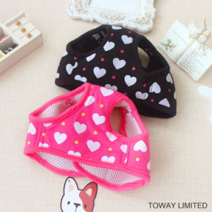Printing Heart Dog Products Mesh Dog Harness with Leash pictures & photos