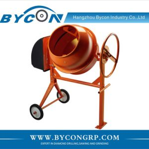 BC-160 160L electric small concrete pan mixer with wheel kit pictures & photos
