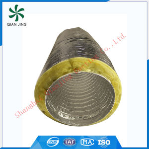 Yellow Fiberglass Insulated Acoustic Flexible Duct pictures & photos