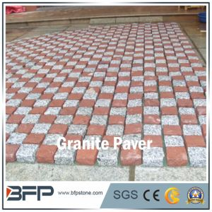 Red and Grey Meshed Cobblestone for Square and Landscape Paving pictures & photos