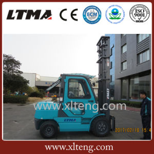 Manual 3.5 Ton Diesel Forklift with 6m Lifting Height pictures & photos