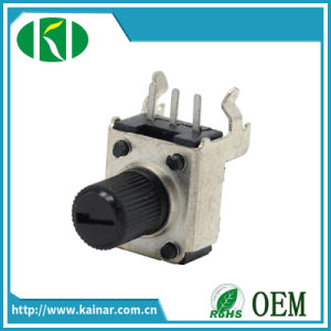 9mm Precision Rotary Potentiometer with Bracket B5k 10k 50k Wh9011-2 pictures & photos