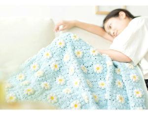 Handmade Hand Crochet France Marguerite Daisy Blanket Throw Rug pictures & photos