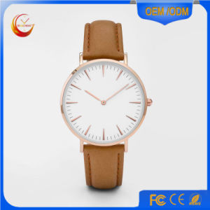 Custom Genuine Leather Nato Nylon Strap Luxury Stainless Steel Watches pictures & photos