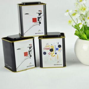 2017 New Product Customized Logo Square Tea Tin Box pictures & photos