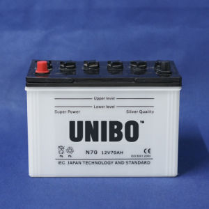 Auto Battery High Performance JIS Standard Dry Charged N70 12V70ah pictures & photos