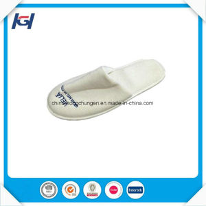 Cheap Wholesale Velour Disposable Bathroom EVA Sole Slippers pictures & photos
