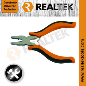 Nickel-Planted Mini Combination Pliers with Bi-Color Plastic Handles pictures & photos