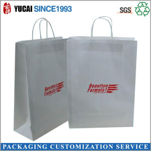 High Quality White Kraft Paper Bag Shopping Bag pictures & photos