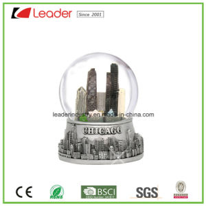 Hand-Painted Resin Craft Snow Globe with Building for Home Decoration and Souvenir pictures & photos