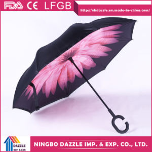 Custom Print C Type Upside-Down Outdoor Reverse Umbrella pictures & photos