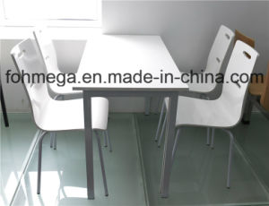Contemporary White Wooden Dining Table and Chair (FOH-CXSC43) pictures & photos