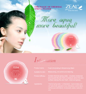 Zeal Dendrobium Fresh & Hydrating Skin Care Facial Mask pictures & photos