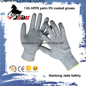 13G Gary PU Coated Cut Resistant Work Glove Level Grade 3 and 5 pictures & photos