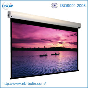 High-Gain Motorized Roll Down Electric Projection Screen pictures & photos