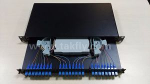 19 Rack 24 Ports Slidable Rack-Mount Fiber Optic Patch Panel pictures & photos