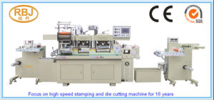 Pet, PVC, PP Plastic Film Adhesive Tape Automatic Flated Bed Die Cutting Machine Price