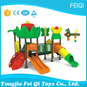 Best Choice Factory Price Plastic Slide Swing Set Nature Series (FQ-YQ06302) pictures & photos