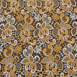 Two Color Cotton Chemical Lace Fabric pictures & photos