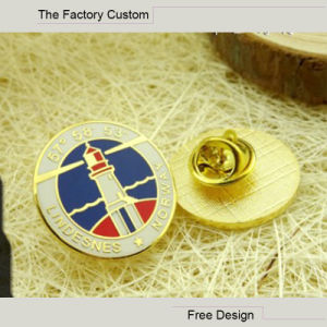 High Quality Real Gold Plating Cloisonne Badges pictures & photos