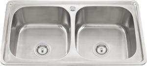 L5712 S. S Welding Double Bowl Sink pictures & photos