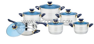 12PCS Jumbo Cookware Set with Glass Lid pictures & photos