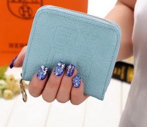 New Mini Square Embossed Ladies Purse Autumn Korean Female Short Zipper Bag Hand Bag Purse pictures & photos