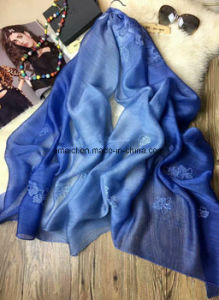 100% Silk Wool Stoles/Shawls Scarf in Stock for Wholesale (AXH42315500) pictures & photos