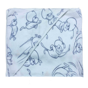 D-029 Super Soft Baby Blanket Hooded Poncho Towel pictures & photos