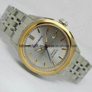 Fashion Men Big Watch Gold Silver Stainless Steel High Quality Male Quartz Watches Man Wristwatch pictures & photos