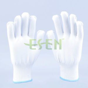 Soft White Polyester Gloves / Construction Work Gloves/ Garden Gloves pictures & photos