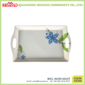 The Latest Top Grade Melamine Rectangular Serving Tray with Handles pictures & photos