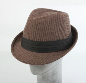 Men′s Wool Little Brim Fedora Hat pictures & photos