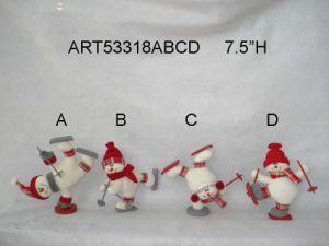 Christmas Decoration Skating Snowman, 4 Asst- pictures & photos