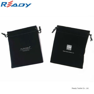 Black Velvet Drawstring Dust Bags for Mini Projector&Mouse pictures & photos